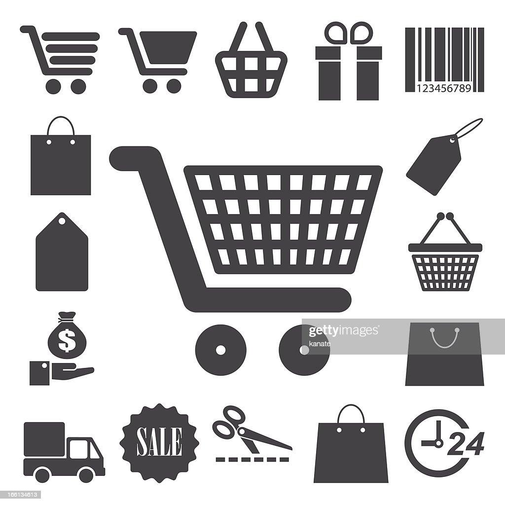 Shopping icons set.