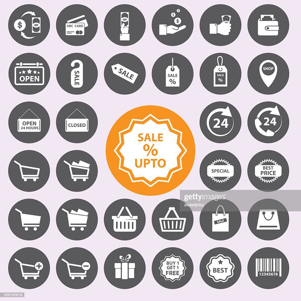 Shopping icons set. Vector/EPS10.