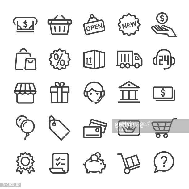 shopping icons - smart line series - new stock illustrations