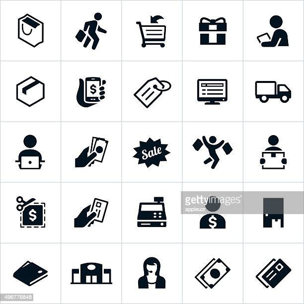 shopping icons - ordering stock illustrations, clip art, cartoons, & icons