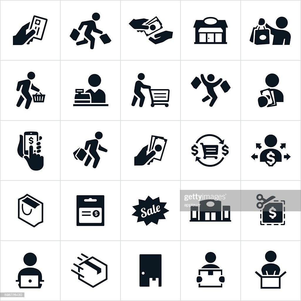 Shopping Icons : stock illustration