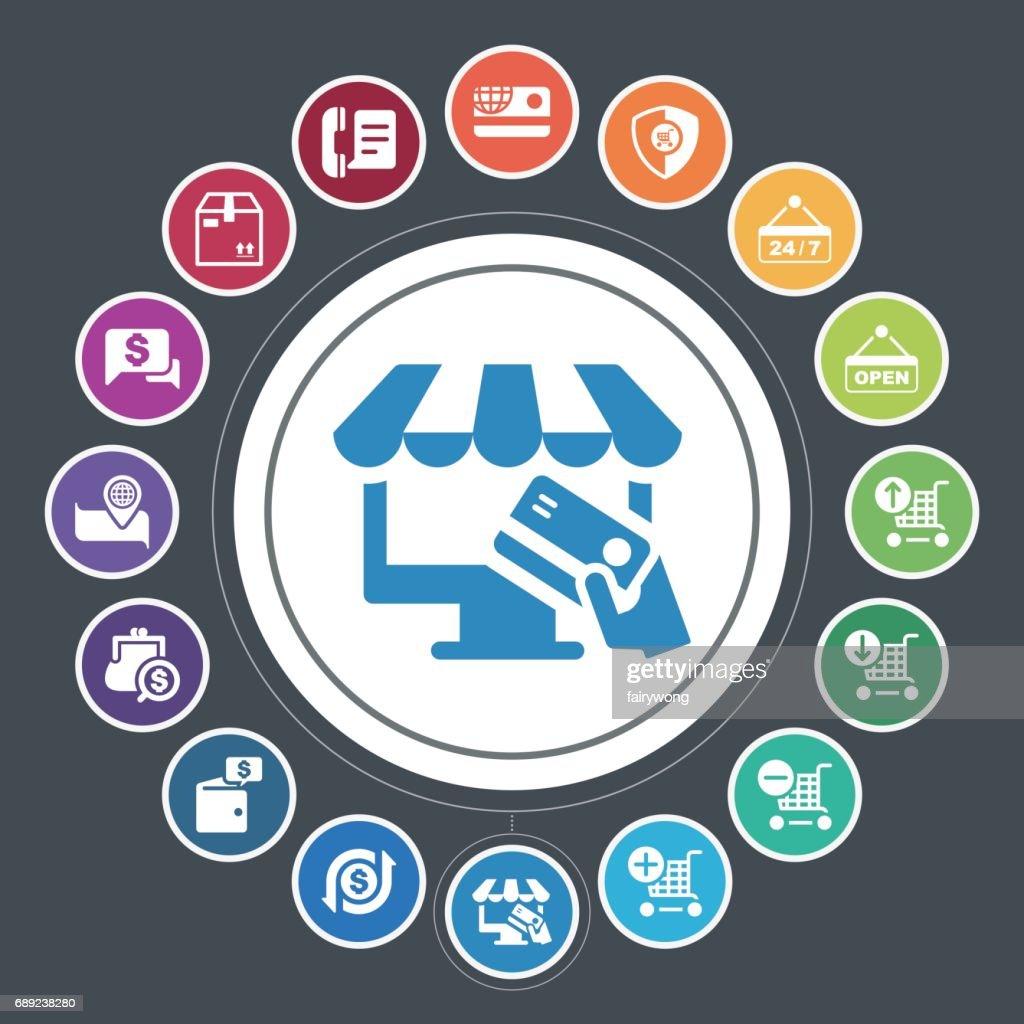 Shopping icons : Stock Illustration