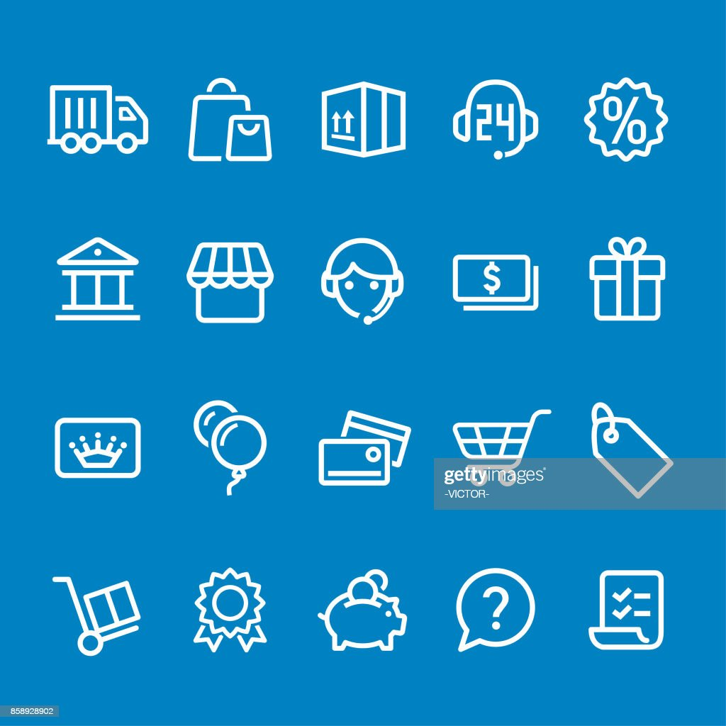 Shopping Icons - Vector Smart Line Series : stock illustration