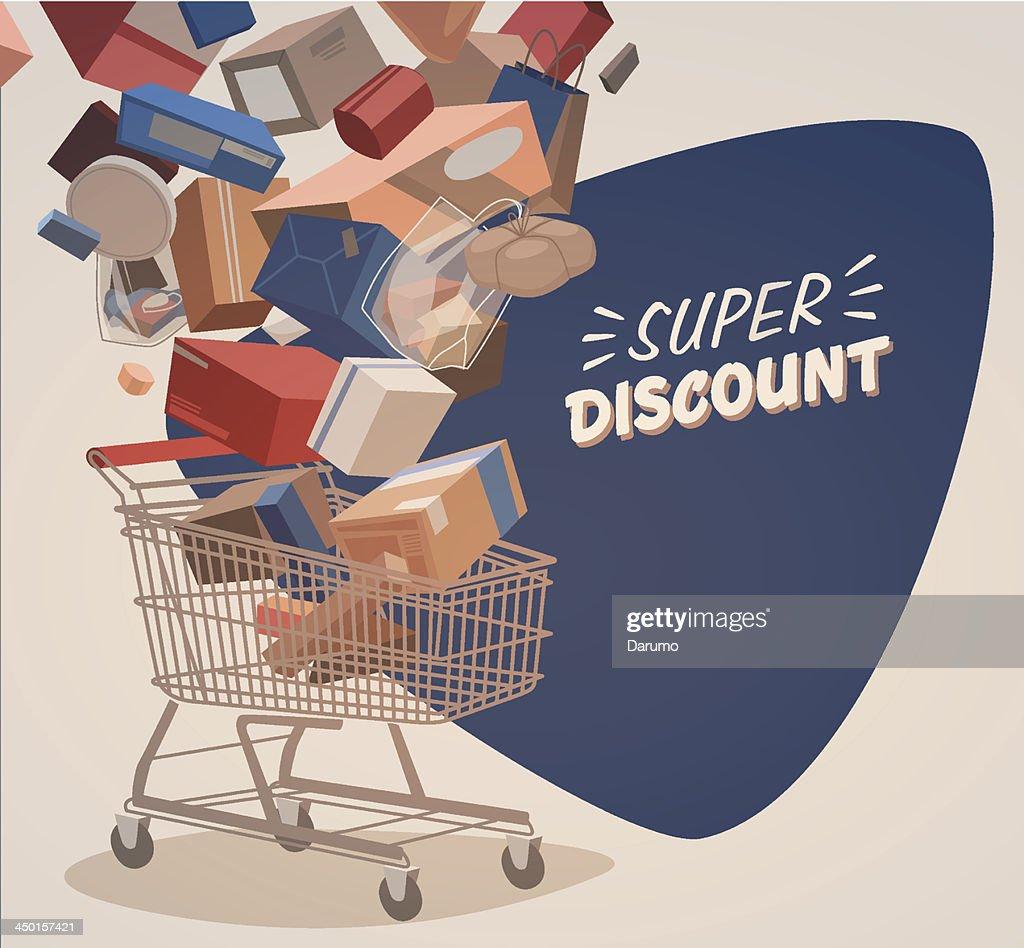 Shopping illustrated background