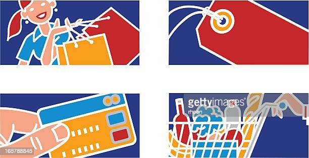 shopping illustrations. - paycheck stock illustrations, clip art, cartoons, & icons