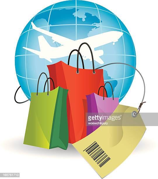 De compras en la tienda libre de impuestos