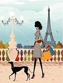 Shopping in Paris (autumn)