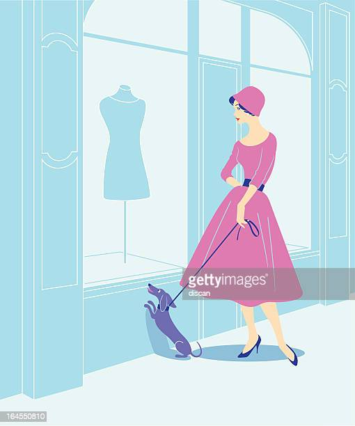 shopping in paris - nice france stock illustrations, clip art, cartoons, & icons