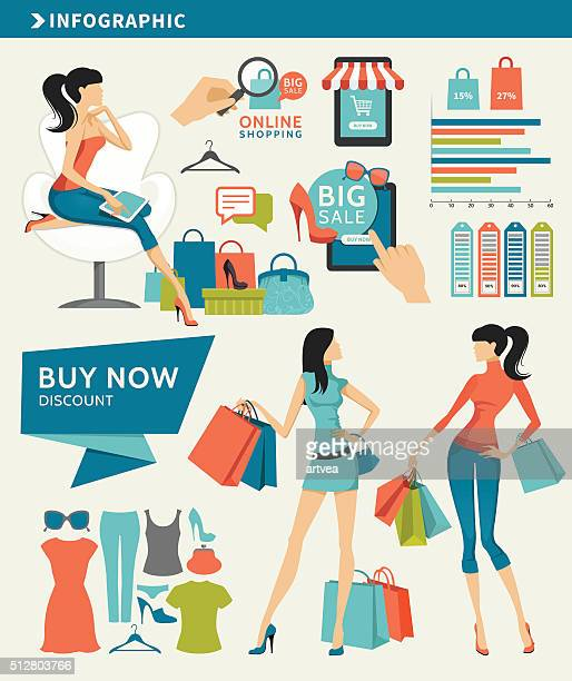 Shopping Infographic Elements