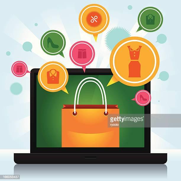 Shopping laptop