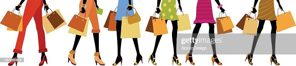 Shopping Legs : stock illustration
