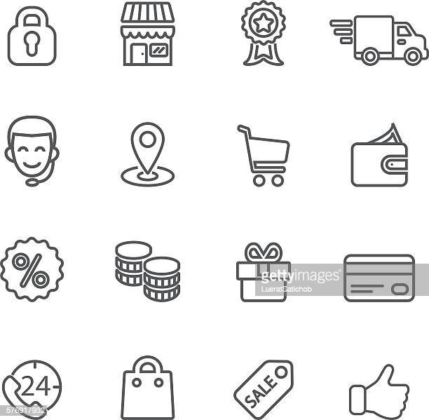Shopping Line icons | EPS10