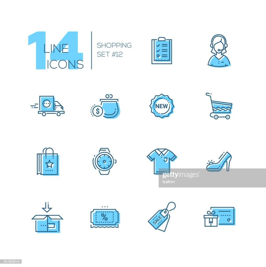 Shopping - line icons set