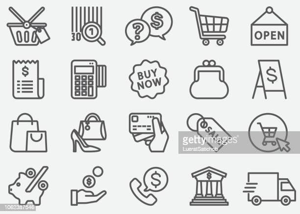 ilustrações, clipart, desenhos animados e ícones de ícones de linha comercial - vale