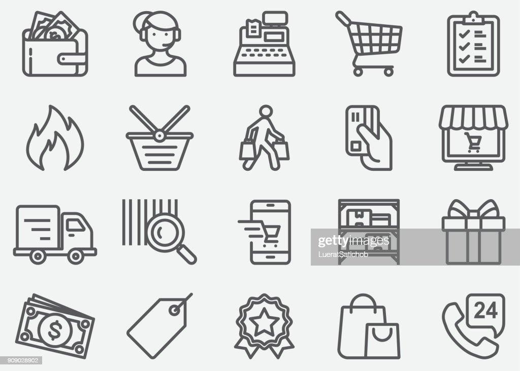 Shopping Line Icons : stock illustration
