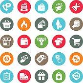 Shopping Mall Circle Colour Harmony icons | EPS10