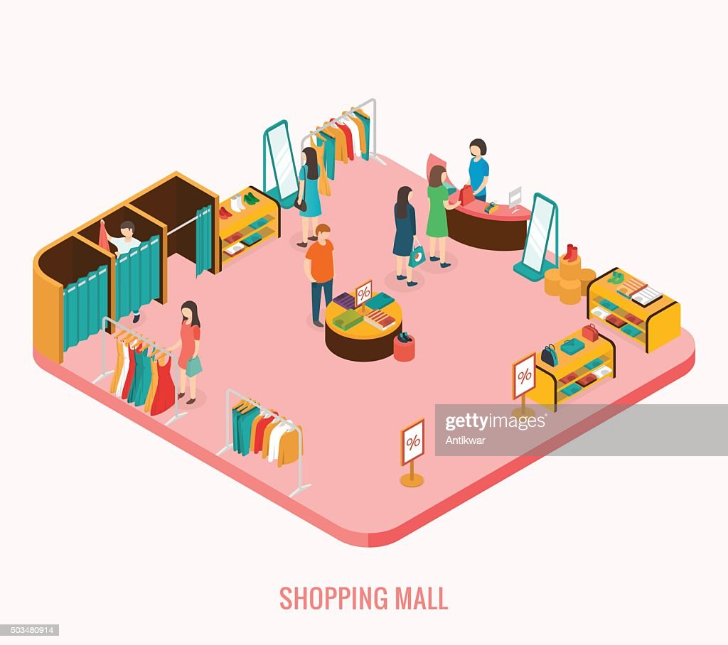 Shopping mall concept.