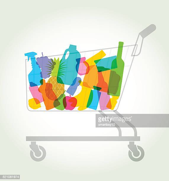 shopping or supermarket trolley