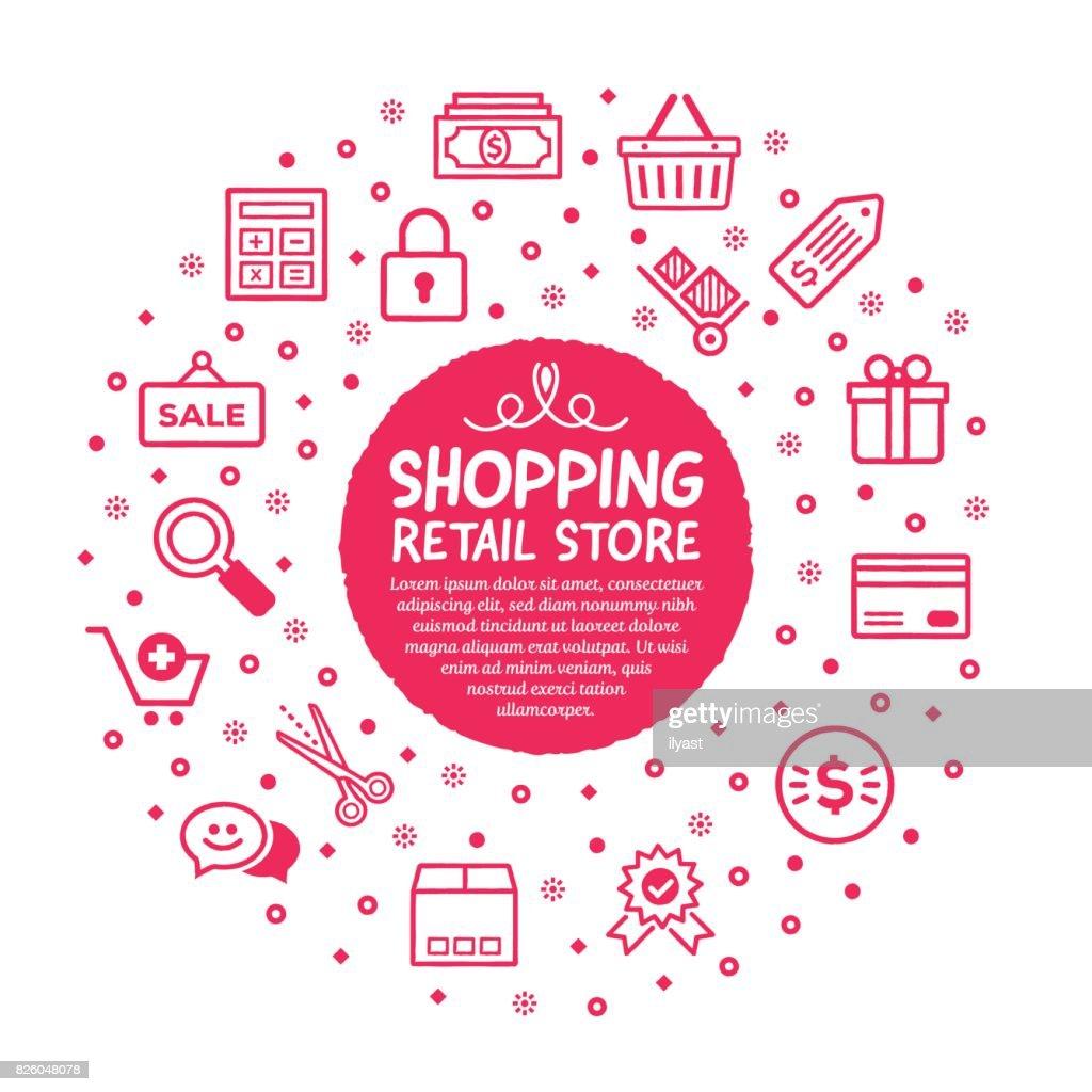 Shopping Poster : stock illustration