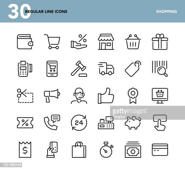 Shopping - Regular Line Icons