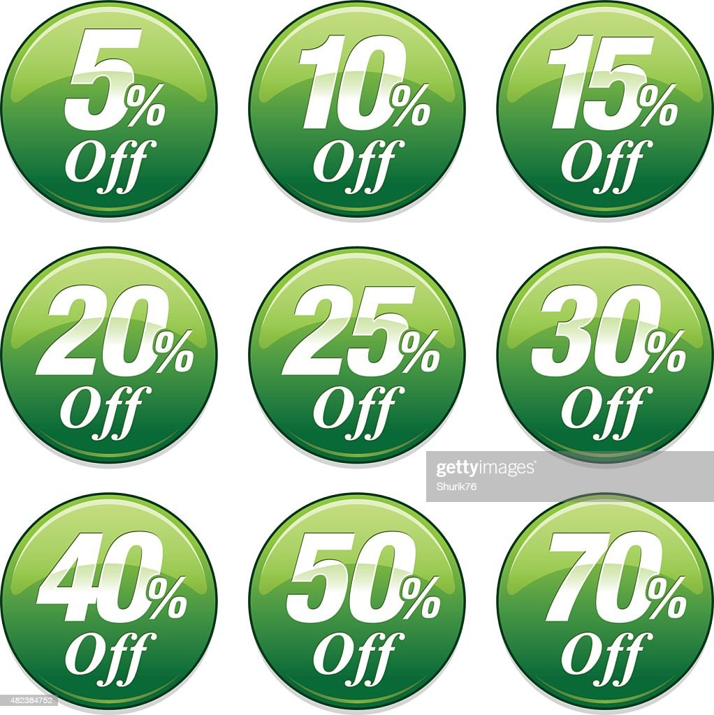 Shopping Sale Discount Badge in Green