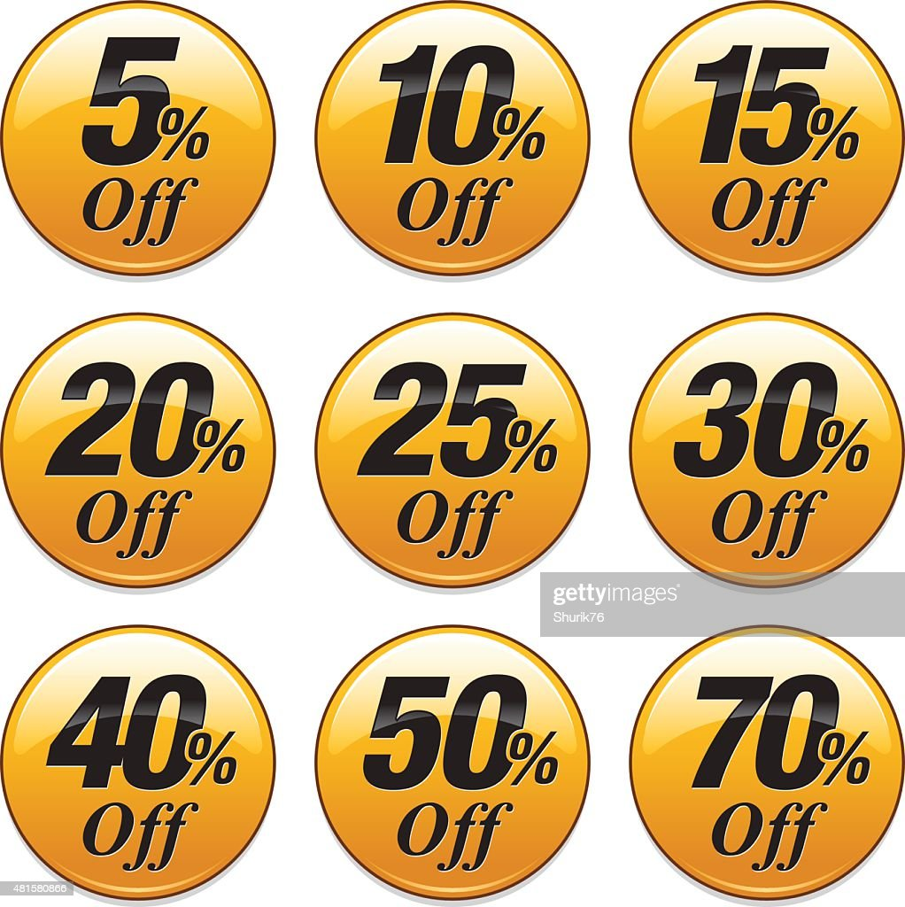 Shopping Sale Discount Badge in Yellow
