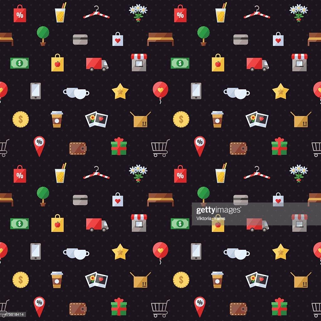 Shopping seamless pattern.