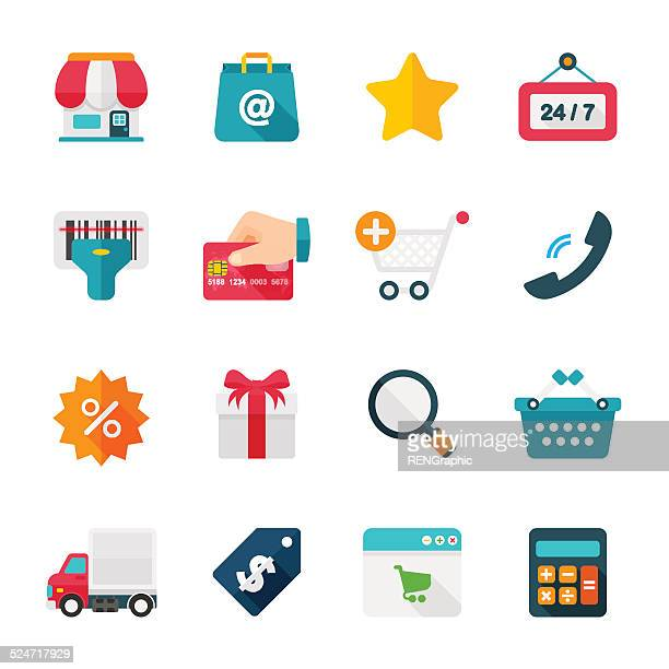 Shopping Set | Flat Design Icons