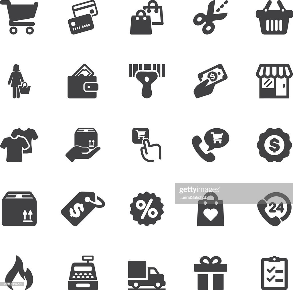 Shopping Silhouette icons | EPS10