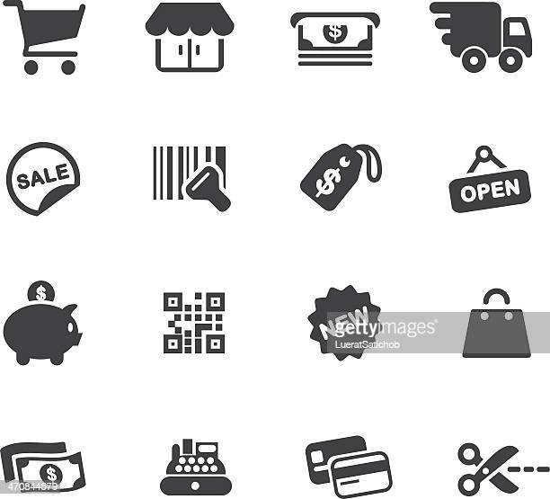 shopping silhouette icons - luggage tag stock illustrations, clip art, cartoons, & icons