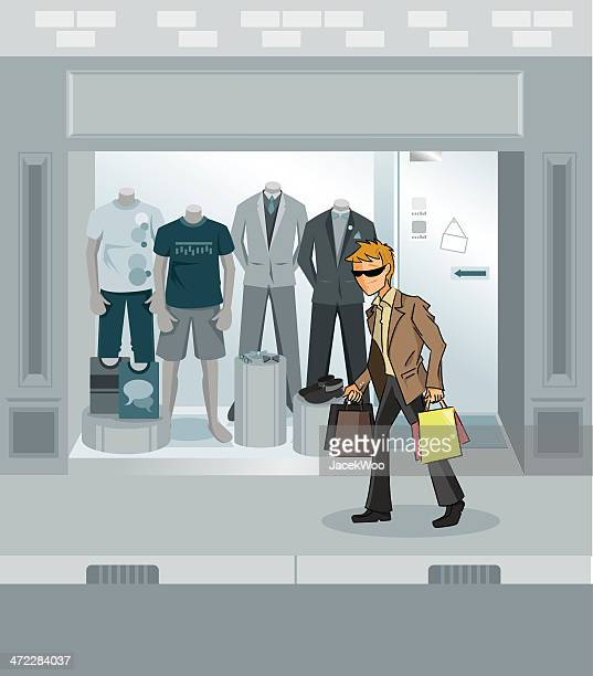 shopping spree - mannequin stock illustrations, clip art, cartoons, & icons