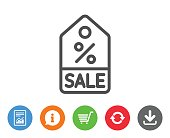 Shopping tag line icon. Special offer sign.