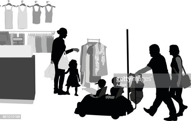 shopping tour - leisure facilities stock illustrations, clip art, cartoons, & icons