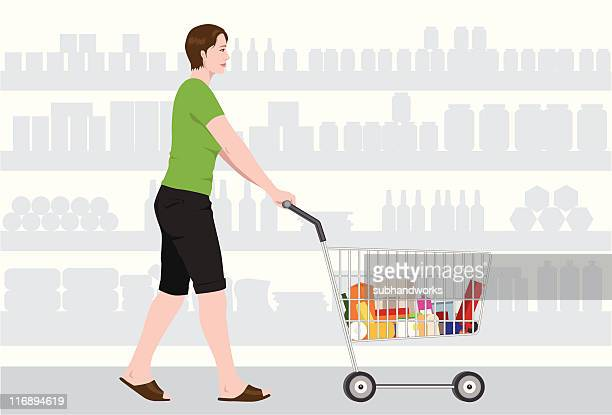 shopping - kitchenware department stock illustrations, clip art, cartoons, & icons