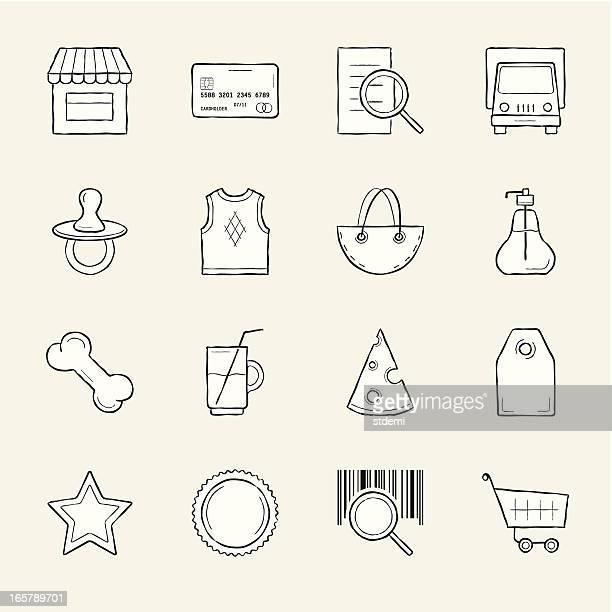 shopping - dog food stock illustrations, clip art, cartoons, & icons