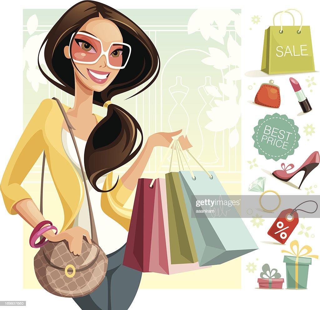 Shopping : Stock-Illustration