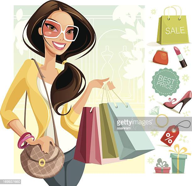 shopping - fashion stock illustrations