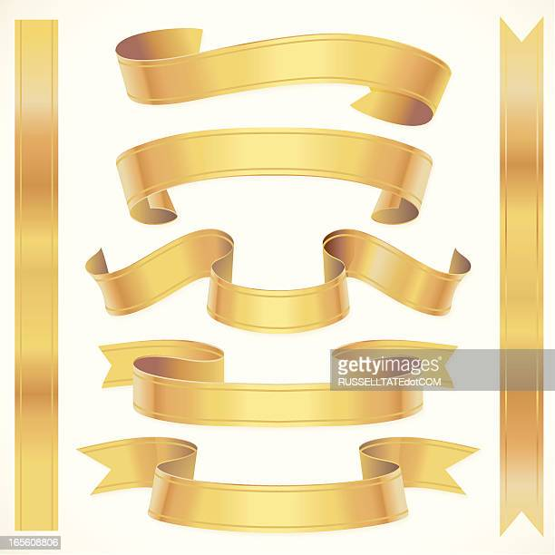 stockillustraties, clipart, cartoons en iconen met short golden swirls - sjerp