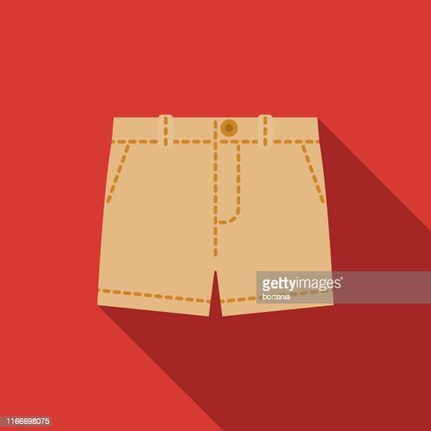 ilustraciones, imágenes clip art, dibujos animados e iconos de stock de shorts ropa & accesorios icono - pantalón corto
