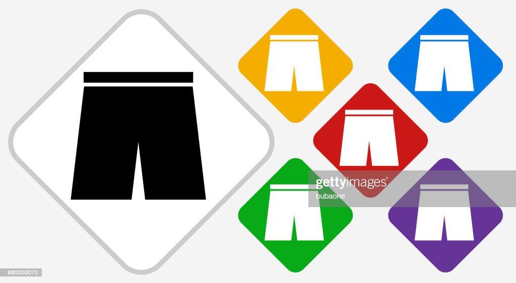 Shorts Color Diamond Vector Icon