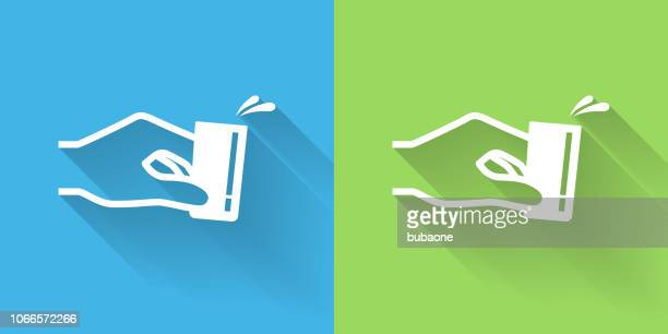 shot glass icon with long shadow - shot glass stock illustrations, clip art, cartoons, & icons