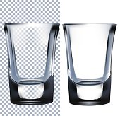 Shot Glass. Vector illustration