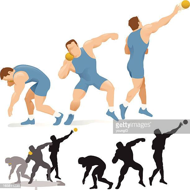 Shot Put Stock Illustrations And Cartoons | Getty Images Hammer Throw Technique