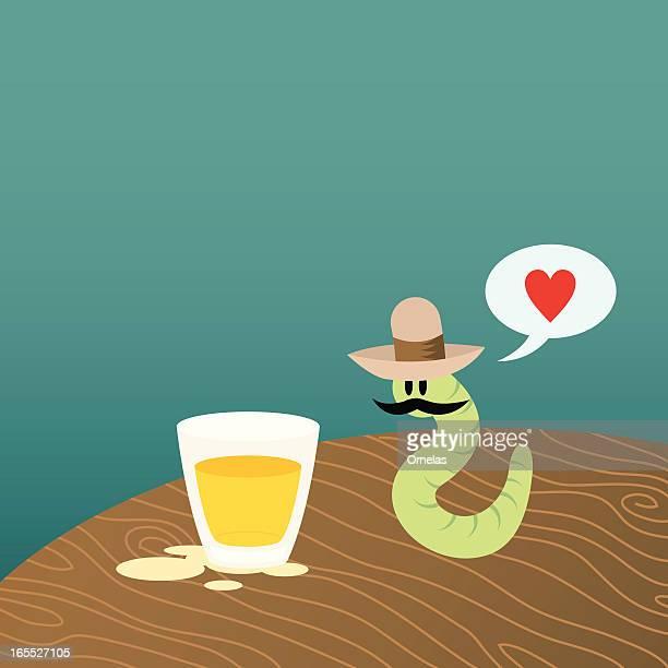 ilustrações, clipart, desenhos animados e ícones de foto com gusano - tequila drink