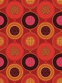 Shou and cai / Variation 3 (Seamless, oriental pattern)
