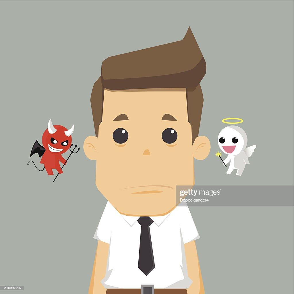Shoulder devil and angel