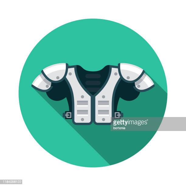 shoulder pads american football icon - padding stock illustrations