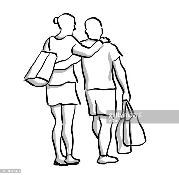 shoulder to shoulder - updo stock illustrations, clip art, cartoons, & icons