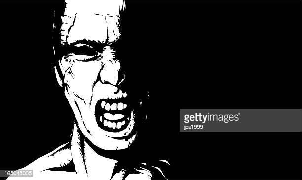 shout - zombie stock illustrations, clip art, cartoons, & icons