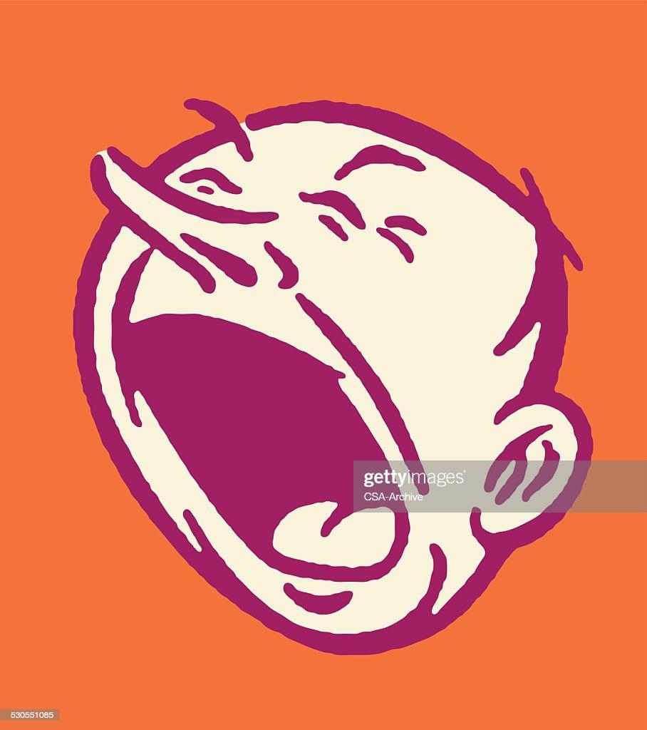 Shouting Man : stock illustration